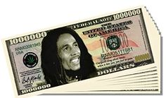 Bob Marley Novelty Million Dollar Bill - 25 Count with Bonus Clear Protector and Christopher Columbus Bill *** Click image for more details.