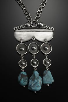 Pendant | Margaret De Patta. Persian turquoise and sterling silver. ca. 1930