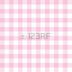 Fondo transparente de color rosa y blanco dulce - patrón de cuadros grandes clásicos o textura de la red para el diseño web, escritorio o sitio web culinaria Blog Vectores