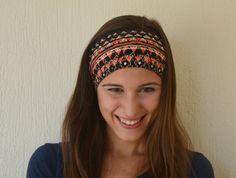Aztec tribal print stretchy headband yoga headband ear by bstyle, $16.00