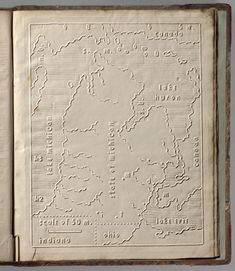 Map of Michigan for the bllind (1837)