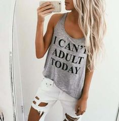 Women Letters Printed Summer Tank Top Sleeveless O Neck Loose Top fitness Women camisole hot Top Fitness, Fitness Women, Workout Fitness, Summer Outfits, Cute Outfits, Summer Clothes, Casual Outfits, Beach Outfits, Beach Dresses