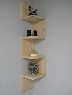// wall mounted corner shelf. I love this!!!!!: