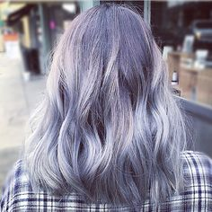 Violet and silver hair color @shear.renegade