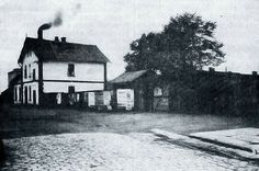 The railway station in 1927.