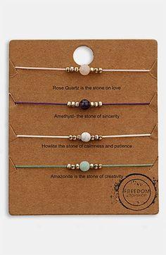 Topshop 'Message' Friendship Bracelets (Set of 4) available at #Nordstrom
