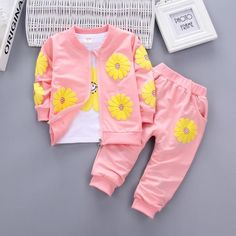 8973ffaa9f1 Baby girls clothing set children tracksuits for girls kids casual sport  suits spring autumn girls clothing set
