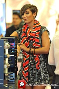 Frankie Sandford  hair. Her hair is cute, but wouldn't work for me...too bad.