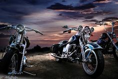 The Beautiful Harley-Davidson Sunset