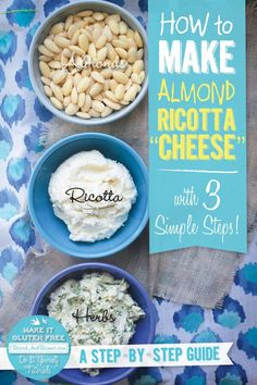 "How To Make Almond Ricotta ""Cheese"" recipe { @beardandbonnet www.beardandbonnet.com }"