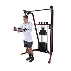 2620e7769c Smaller Functional Trainer Footprint 19 vertical pulley adjustments Single  190 lb weight stack Integrated Straight Chinning Bar Best Fitness IN HOME  ONLY ...