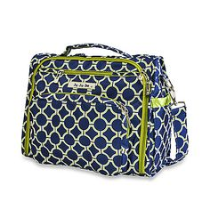 Ju-Ju-Be BFF Diaper Bag. Ju-Ju-Be makes really great diaper bags. This is the only bag that has held up for us. The BFF converts from a shoulder bag to a backpack! It is completely washable and has secretly built-in holes to dump out crumbs that inevitably collect at the bottom of the bag.