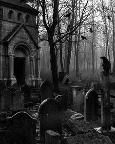 When darkness falls ♠️Love lies waiting.When darkness falls Gothic Horror, Arte Horror, Dark Gothic, Gothic Art, Dark Fantasy Art, Dark Art, Photo Post Mortem, Old Cemeteries, Graveyards
