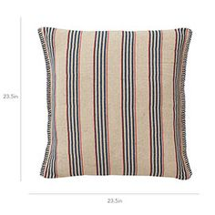 The Block Striped Roku Pillow Cover features hand woven fabric in a jute and cotton blend. Decorated with blue stripes. Wedding List, Blue Stripes, Woven Fabric, Painted Furniture, Hand Weaving, Pillow Covers, Throw Pillows, Hand Knitting, Pillow Case Dresses