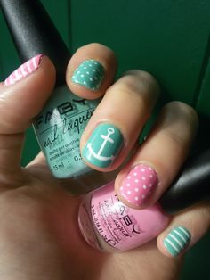 CHIKI88...  my passion for nails!: The nails of the week: anchor nail art!