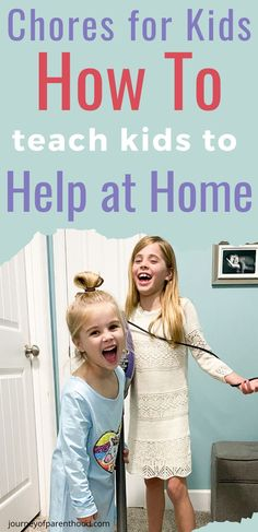 Spending more time at home means it's a great opportunity to teach kids how to do household chores and how to help manage the house duties. Parenting Fail, Parenting Articles, Gentle Parenting, Kids And Parenting, Chores For Kids By Age, Age Appropriate Chores, How To Teach Kids, Practical Parenting, Terrible Twos