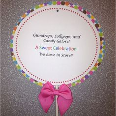 Lollipop birthday invitations (front swivels open to reveal party details)