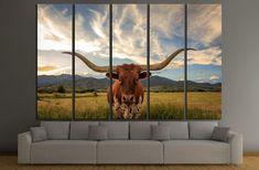 Texas longhorn steer in rural Utah, USA №2364