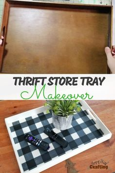 How To Paint Buffalo Plaid on Thrift Store Find! Thrift… How To Paint Buffalo Plaid on Thrift Store Find! Thrift store DIY into buffalo plaid decor! Video tutorial on how to use chalk paint to create a farmhouse tray.