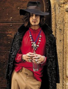 Avan Jogia layers on the jewelry for a special Bohemian moment.