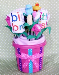 Big Brother & Little Sister New Sibling Gift Bouquet via Etsy