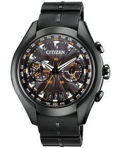 Citizen Men's Eco-Drive Satellite Wave-Air Gray Titanium and Polyurethane Strap Watch 50mm CC1076-02E