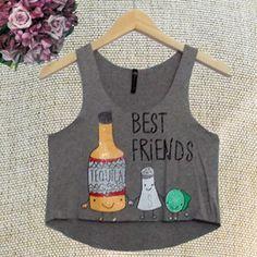 Blusa Cropped Regata Especial Best Friends Tequila