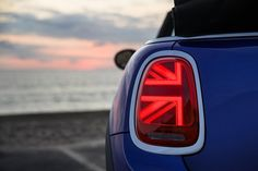 The tail lights on the 2019 Mini Cooper are patterned after the flag of the United Kingdom. Mini Cabrio, Union Jack, Mini Cooper Convertible, Mini Cooper S, Mini Sales, Love Dad, Audi A5, Most Popular Memes, Honda Logo
