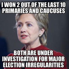 WAKE UP PEOPLE!!!! SHE IS A LAW BREAKING LIAR WHO SHOULD BE IN JAIL! NOT RUNNING FOR PRESIDENT!