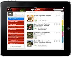 Epicurious (iOS, Android, FREE) is a popular food app that offers 30,000+ recipes, weekly recipe updates and lets you save your favorites to share via email, Facebook, and Twitter.