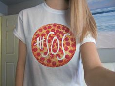 5SOS Five Seconds Of Summer Pizza Logo White by CandyShopGifts, $16.00, I need this
