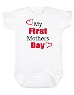 2d0196bed My First Mothers Day Baby Bodysuit - Celebration - Unisex - Baby Girl -  Baby Boy