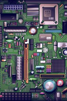 The picture shown above is the motherboard of a computer, which acts as the basis of every piece of hardware. I chose this picture because ordering and putting together my own gaming computer has made me far more technologically literate. Computer Engineering, Computer Technology, Electrical Engineering, Computer Science, Computer Chip, Computer Art, Mobile Wallpaper, Code Wallpaper, Images