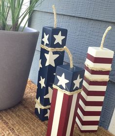 Hey, I found this really awesome Etsy listing at https://www.etsy.com/listing/208922089/patriotic-firecrackers-set-of-3-large