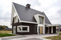 Wonen 25 - Bekhuis & KleinJan Condo Design, Villa Design, Home Interior Design, House Design, Dormer Bungalow, Wooden Architecture, Contemporary Cottage, Exterior House Colors, Facade House