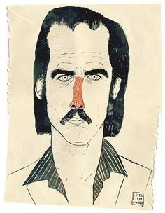 Nick Cave by Little is Drawing