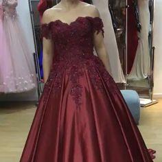 Lace Flower Off the Shoulder Satin Prom Dress Ball Gowns - Wedding Dress Ball Gowns Prom, Ball Dresses, Party Dresses, Elegant Wedding Dress, Wedding Gowns, Shrug For Dresses, Formal Dresses, Affordable Prom Dresses, Quinceanera Dresses