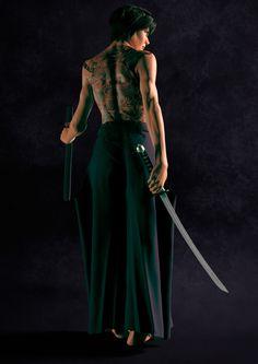 ArtStation - Samurai girl, Nassos Apollonatos