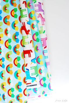 wonder by ann kelle / unicorns and rainbow fabric
