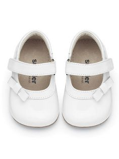 See Kai Run Baby Girls White Patent Victoria Mary Jane Shoes