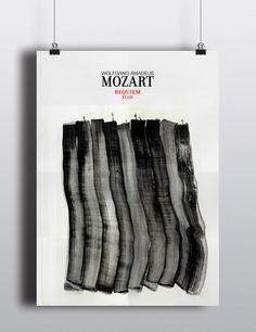 Cartel homenaje al Requiem de Mozart. Por Alba López