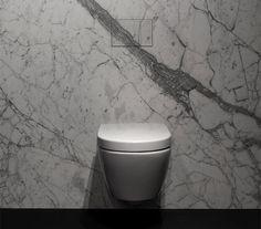 Unseen by Potier Stone is een in steen geïntegreerde druktoets, op maat gemaakt en gepersonaliseerd. De perfecte afwerking voor de badkamer of het toilet!