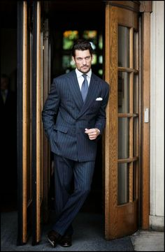 David Gandy for Henry Poole A/W 2014 ~ David James Gandy