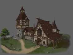 Medival House_02, Ji Young Joo on ArtStation at https://www.artstation.com/artwork/kem90