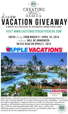 ARE YOU THE WINNER OF THE CREATING WITH THE STARS VACATION GIVEAWAY?!!! #giveaway #CWTS2014
