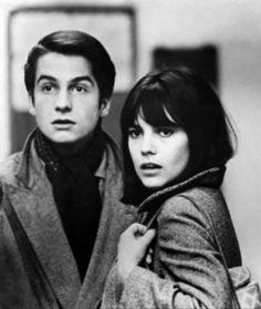 """Jean-Pierre Léaud & Chantal Goya. Jean-Luc Godard's 1966 film """"Masculin féminin""""."""