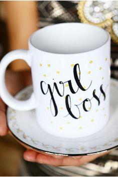 Slay All Day Gold Coffee Mug Tea Cup Women/'s Motivational Hustle Gift Beyonce