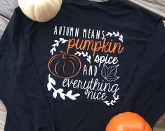 by ElleQDesigns Fall Shirts, Cute Shirts, Momma Shirts, Funny Shirts, Halloween Outfits, Halloween Shirt, Fall Outfits, Vinyl Shirts, Monogram Shirts