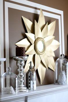 DIY Starburst mirror | Dwellings By DeVore: yes, another starburst mirror
