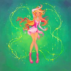 Flora- Magic Winx by LadyShalirin on DeviantArt Overwatch Mercy, Overwatch Tracer, Winx Club, Les Winx, Flora Winx, Magical Girl, Cartoon Art, Anime Art, Witch